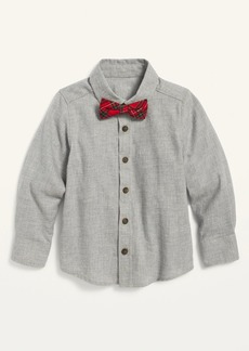 Old Navy Button-Front Twill Shirt and Tie Set for Toddler Boys