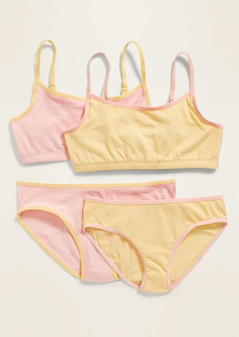 Old Navy Cami Bra & Bikini Underwear Set 2-Pack for Girls