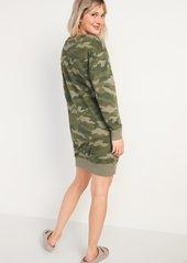 Old Navy Camo French Terry Sweatshirt Shift Dress for Women