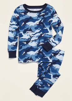 Old Navy Unisex Camo-Shark-Print Pajama Set for Toddler & Baby