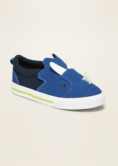 Old Navy Canvas Triceratops Critter Slip-Ons for Toddler Boys