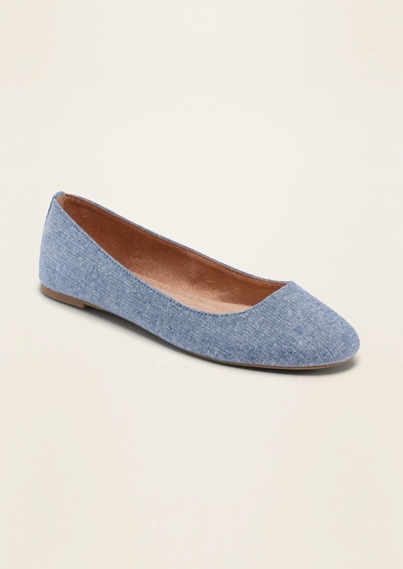 Old Navy Chambray Ballet Flats for Women
