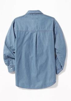 Old Navy Chambray Boyfriend Tunic Shirt for Girls