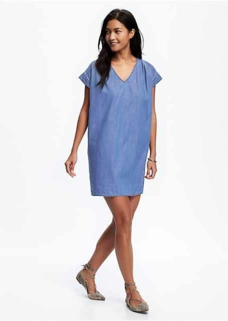 0aaad0bd15d Old Navy Chambray Cocoon Dress for Women | Denim
