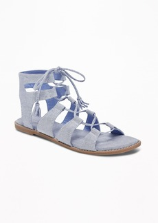 Old Navy Chambray Gladiator Sandals for Women