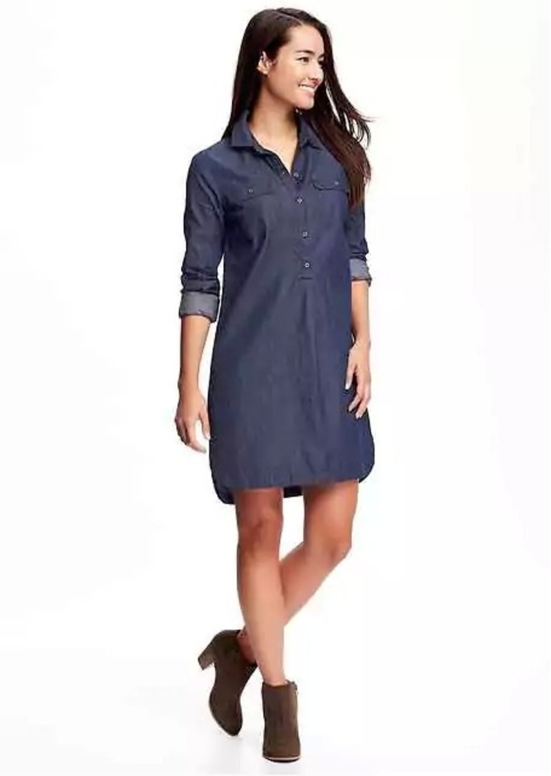 Old Navy Chambray Shirt Dress for Women