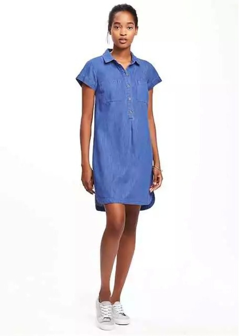 On Sale Today Old Navy Chambray Shirt Dress For Women