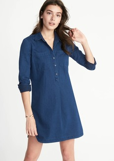 Chambray Shirt Dress for Women