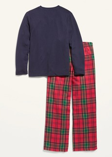 """Old Navy """"Cheers"""" Graphic Pajama Set for Boys"""