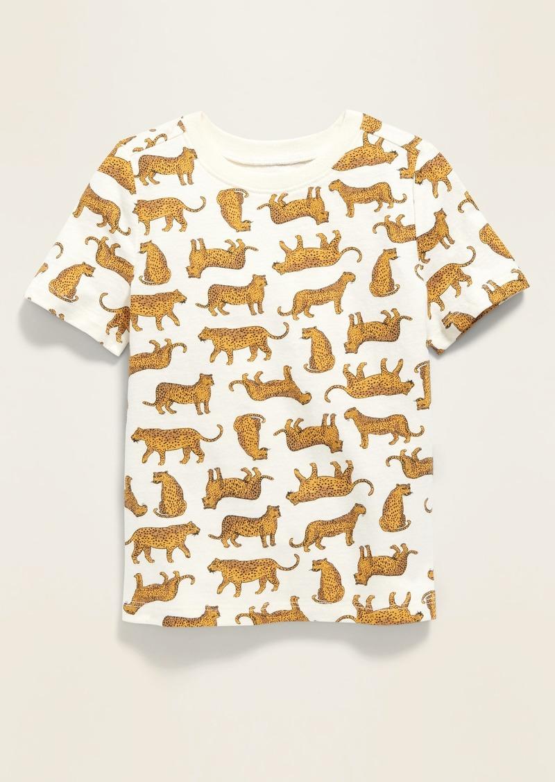 Old Navy Cheetah-Print Crew-Neck Tee for Toddler Boys
