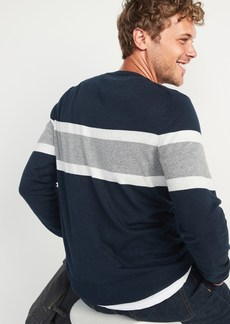 Old Navy Chest-Stripe Crew-Neck Sweater for Men