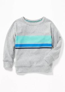 Old Navy Chest-Stripe Raglan Crew-Neck Sweatshirt for Toddler Boys
