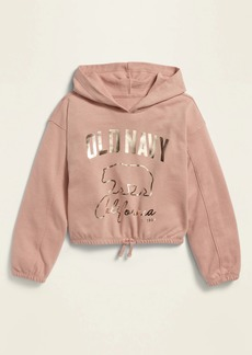 Old Navy Cinched-Hem French Terry Cropped Pullover Hoodie for Girls