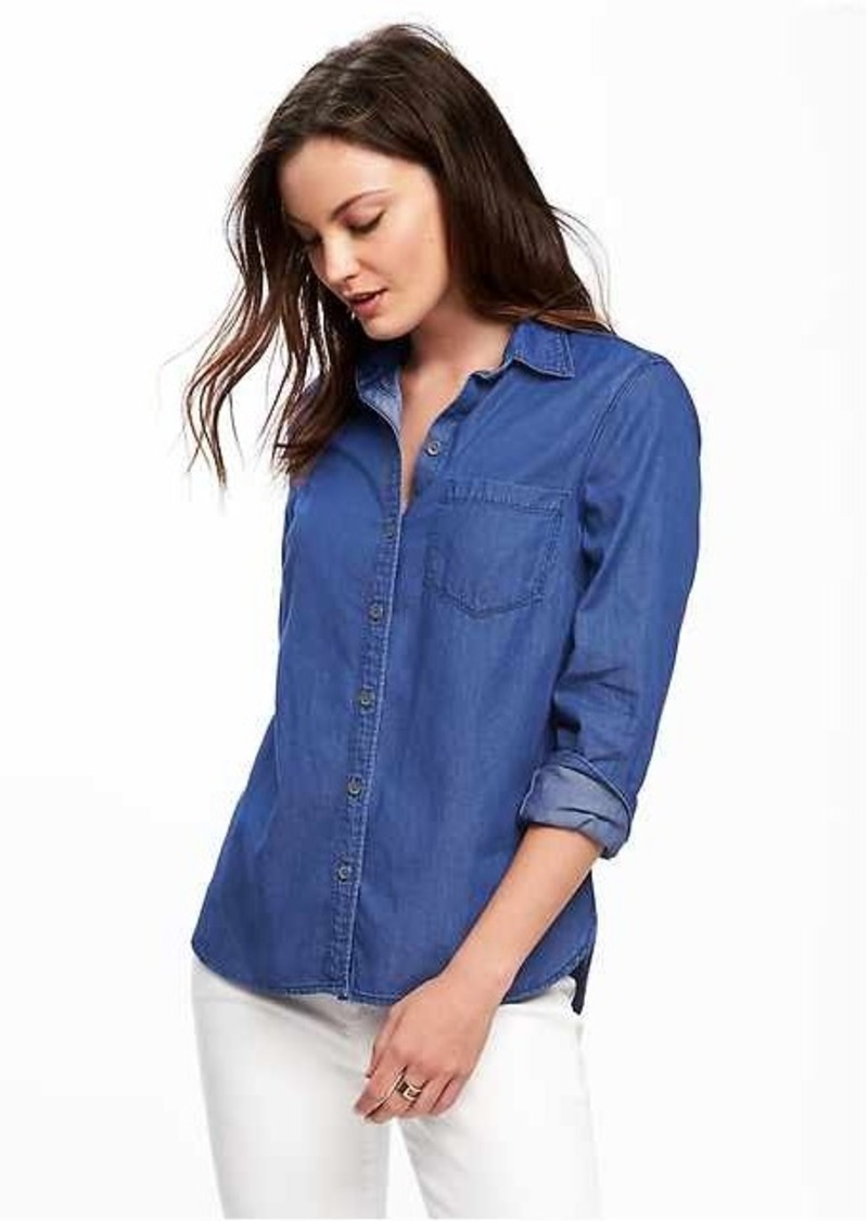 aec66c1177 On Sale today! Old Navy Classic Chambray Shirt for Women