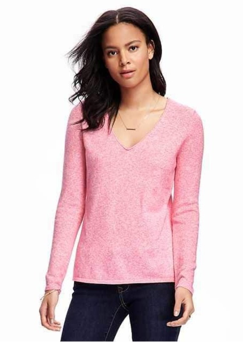 Old Navy Classic Marled V-Neck Sweater for Women ...