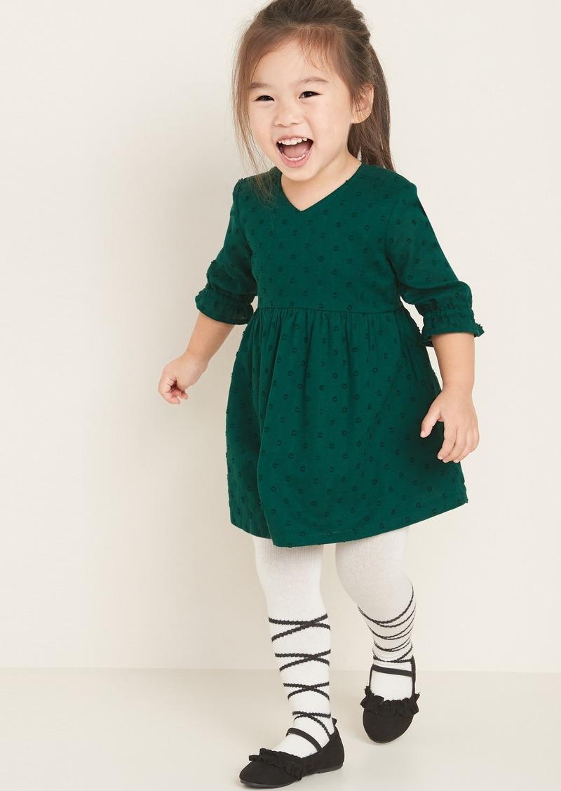 Old Navy Clip-Dot 3/4-Sleeve Dress for Toddler Girls