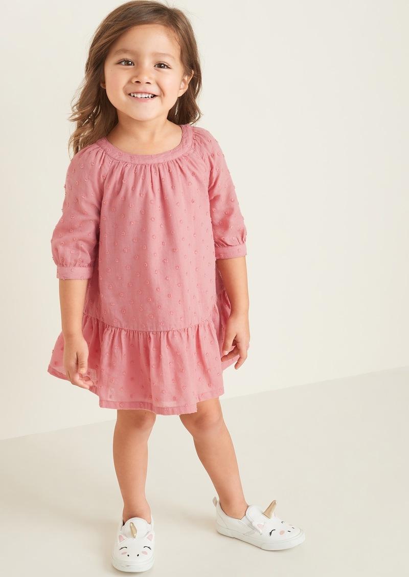 Old Navy Clip-Dot Crepe Tiered-Hem Swing Dress for Toddler Girls