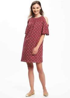 Cold-Shoulder Shift Dress for Women