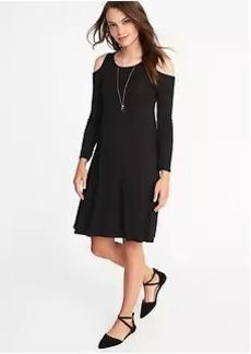 Cold-Shoulder Swing Dress for Women