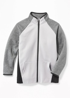 Old Navy Color-Block Quilted-Sleeve Performance Zip Jacket for Boys