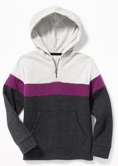Old Navy Color-Blocked 1/4-Zip Hoodie for Boys