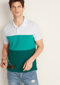 Old Navy Color-Blocked Moisture-Wicking Pro Polo for Men