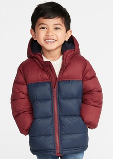 Old Navy Color-Blocked Hooded Frost-Free Puffer Jacket for Toddler Boys