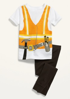 Old Navy Unisex Construction Worker Costume Pajama Set for Toddler & Baby
