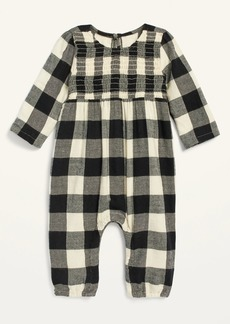 Old Navy Cozy Buffalo Plaid Long-Sleeve Jumpsuit for Baby