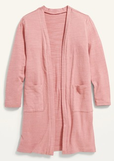 Old Navy Cozy-Knit Super-Long Open-Front Sweater for Girls