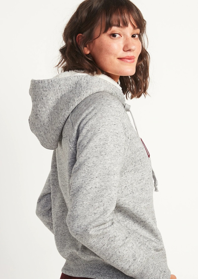 Cozy Logo-Graphic Pullover Hoodie for Women