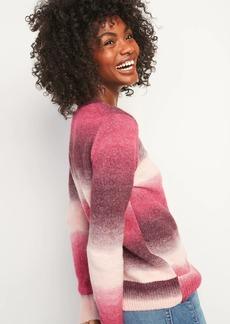 Old Navy Cozy Ombré-Stripe Crew-Neck Sweater for Women