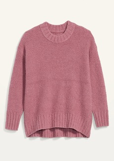 Old Navy Cozy Oversized Bouclé Crew-Neck Sweater for Women