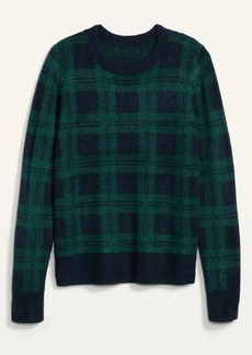 Old Navy Cozy Plaid Crew-Neck Sweater for Women