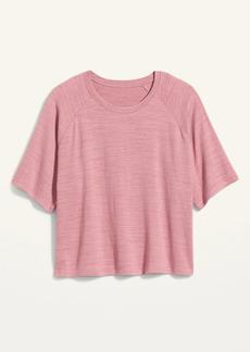 Old Navy Cozy Plush-Knit Elbow-Sleeve Plus-Size Sweatshirt