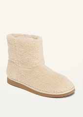 Old Navy Cozy Sherpa Slipper Booties for Women