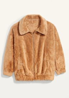 Old Navy Cozy Teddy Sherpa Zip Lounge Jacket for Women
