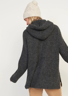 Old Navy Cozy Textured Pullover Sweater Hoodie for Women
