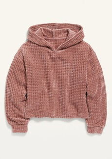 Old Navy Cozy Thermal-Knit Chenille Pullover Hoodie for Girls