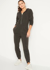 Old Navy Cozy Zip-Front Hoodie Jumpsuit for Women