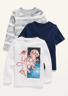 Old Navy Unisex Crew-Neck Tee Variety 3-Pack for Toddler