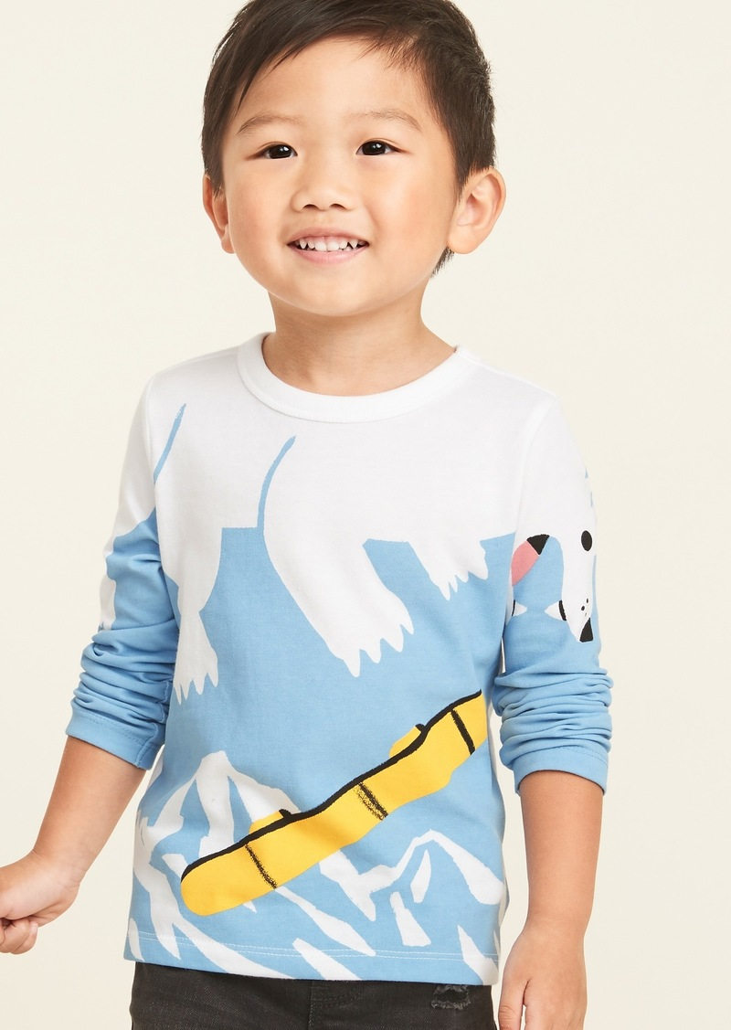 Old Navy Critter Novelty Graphic Long-Sleeve Tee for Toddler Boys
