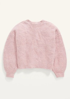 Old Navy Cropped Button-Front Cardigan Sweater for Girls