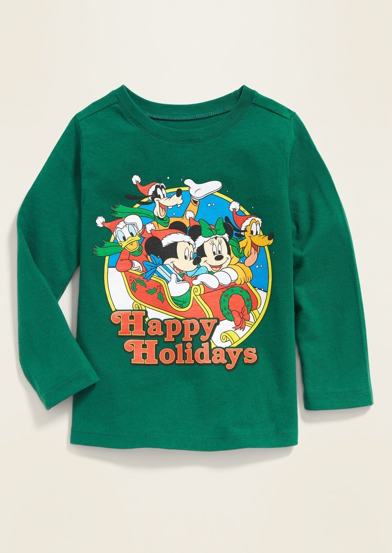 """Old Navy Disney&#169 Mickey & Friends """"Happy Holidays"""" Tee for Toddler Boys"""