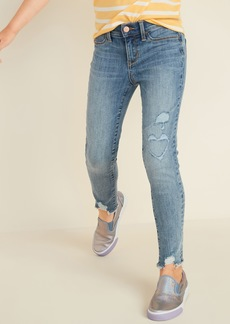 Old Navy Ballerina Built-In Tough Distressed Raw-Edge Jeggings for Girls