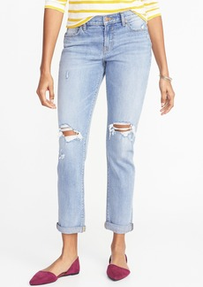 Old Navy Distressed Boyfriend Straight Jeans for Women