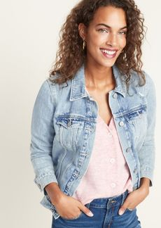 Old Navy Distressed Jean Jacket For Women
