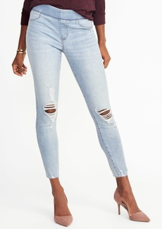 Distressed Rockstar Ankle Jeggings for Women