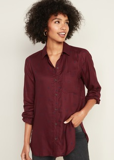 Old Navy Drapey Polka-Dot Tunic Shirt for Women