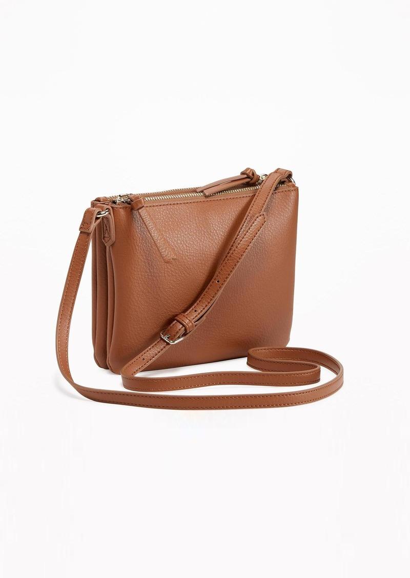 On Sale today! Old Navy Dual-Zip Crossbody Bag for Women